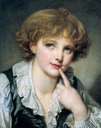 Jean-Baptiste Greuze | Head of a Boy, c.1782 | Giclée Canvas Print