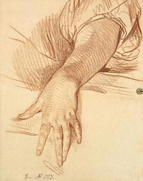 Jean-Baptiste Greuze | Study of a Female Arm Dropped Down | Giclée Paper Print