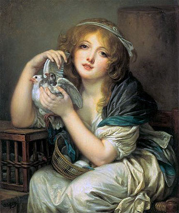Girl with Doves, c.1799/00   Jean-Baptiste Greuze   Painting Reproduction