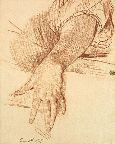Study of a Female Arm Dropped Down, 1765   Jean-Baptiste Greuze   Painting Reproduction