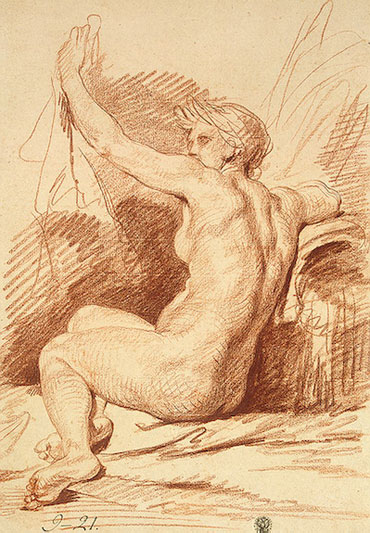 Study of a Nymph, b.1755 | Jean-Baptiste Greuze | Painting Reproduction