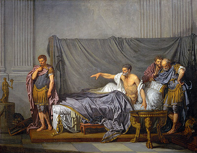 The Emperor Severus Rebuking his Son, Caracalla, for Wanting to Assassinate Him, 1769 | Jean-Baptiste Greuze | Giclée Canvas Print