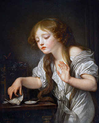 Jean-Baptiste Greuze | The Dead Bird, c.1800 | Giclée Canvas Print