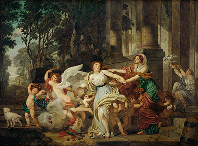 Jean-Baptiste Greuze | Innocence Swept Along by Love, c.1786 | Giclée Canvas Print