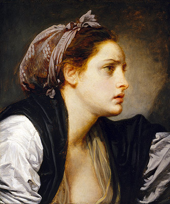 Study Head of a Woman, undated | Jean-Baptiste Greuze | Giclée Canvas Print