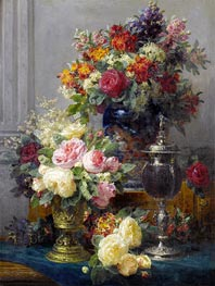 Jean-Baptiste Robie | Spring Flowers with Chalices, undated | Giclée Canvas Print