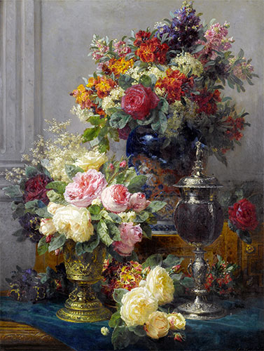Spring Flowers with Chalices, undated | Jean-Baptiste Robie | Giclée Canvas Print