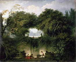 Fragonard | The Small Park (Garden of the Villa d'Este), c.1762/63 | Giclée Canvas Print