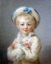 Fragonard | A Boy as Pierrot, c.1780 | Giclée Canvas Print