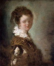 Fragonard | Young Woman, c.1769 | Giclée Canvas Print