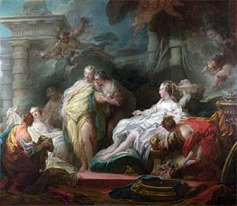 Fragonard | Psyche showing her Sisters her Gifts from Cupid, 1753 | Giclée Canvas Print