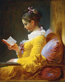 Fragonard | Young Girl Reading, c.1776 | Giclée Canvas Print