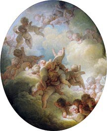Fragonard | The Swarm of Cupids | Giclée Canvas Print