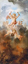 Fragonard | The Progress of Love: Love Triumphant, c.1790/91 | Giclée Canvas Print