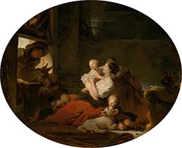 Fragonard | The Happy Family, c.1775 | Giclée Canvas Print