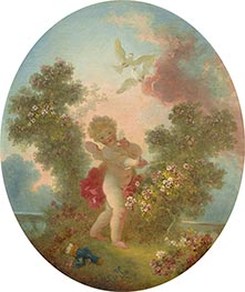 Fragonard | Love the Sentinel, c.1773/76 | Giclée Canvas Print