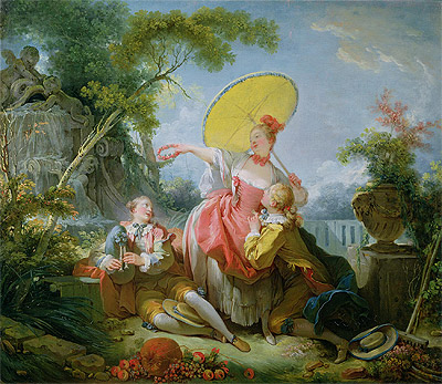 The Musical Contest, c.1754 | Fragonard | Painting Reproduction