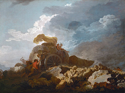 Thunderstorm (Cart Stuck in the Mud), c.1759 | Fragonard | Painting Reproduction