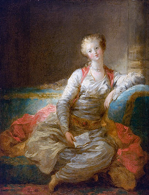 Sultana on an Ottoman, c.1772/76 | Fragonard | Painting Reproduction