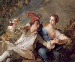 Jean-Marc Nattier | The Alliance of Love and Wine | Giclée Canvas Print