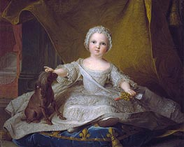 Jean-Marc Nattier | Portrait of Marie-Zephyrine of France with Her Dog | Giclée Canvas Print