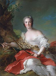 Jean-Marc Nattier | Portrait of Constance Gabrielle Magdeleine Bonnier de la Mosson as Diana | Giclée Canvas Print