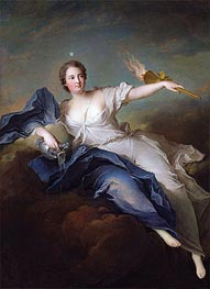 Jean-Marc Nattier | Portrait of Marie-Anne de Mailly-Nesle Marquise of La Tournelle as Eos, a.1740 | Giclée Canvas Print