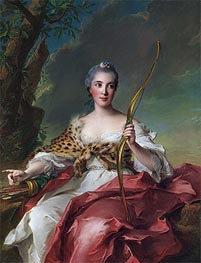 Jean-Marc Nattier | Madame de Maison-Rouge as Diana, 1756 | Giclée Canvas Print