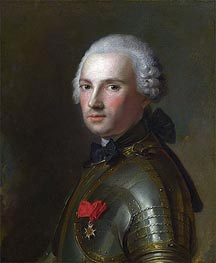Jean-Marc Nattier | Portrait of a Man in Armour, c.1750 | Giclée Canvas Print