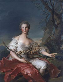 Jean-Marc Nattier | Portrait of Madame Bouret as Diana, 1745 | Giclée Canvas Print
