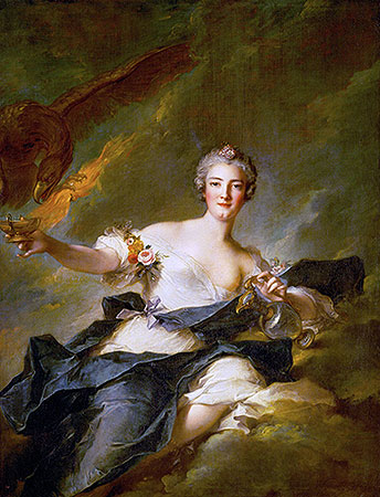 The Duchess of Chaulnes as Hebe, 1744 | Jean-Marc Nattier | Painting Reproduction