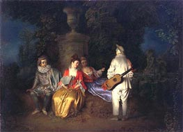 Watteau | The Foursome (La Partie Quarree) | Giclée Canvas Print