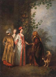 Watteau | The Fortune Teller | Giclée Canvas Print