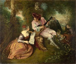 Watteau | The Scale of Love | Giclée Canvas Print