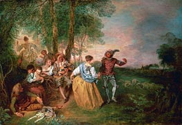 Watteau | The Shepherds | Giclée Canvas Print