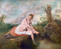Watteau | Diana Bathing | Giclée Canvas Print