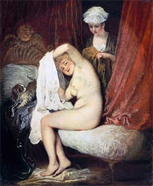 Watteau | A Lady at her Toilet, c.1716/17 | Giclée Canvas Print