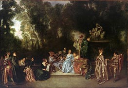 Watteau | Recreation Galante, c.1717/18 | Giclée Canvas Print