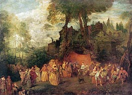 Watteau | L'Accordee du Village, undated | Giclée Canvas Print
