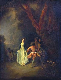 Watteau | The Country Dance, c.1711 | Giclée Canvas Print