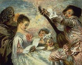 Watteau | The Music Lesson, c.1717/18 | Giclée Canvas Print