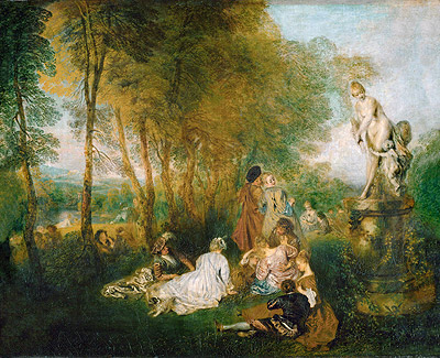 The Festival of Love (The Pleasures of Love), 1717 | Watteau | Painting Reproduction