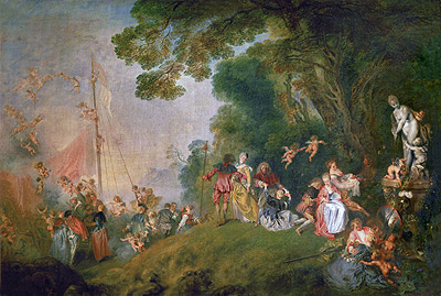 Pilgrimage to Cythera, c.1718/19 | Watteau | Giclée Canvas Print