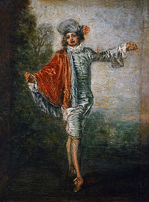 L'Indifferent, c.1717 | Watteau | Painting Reproduction