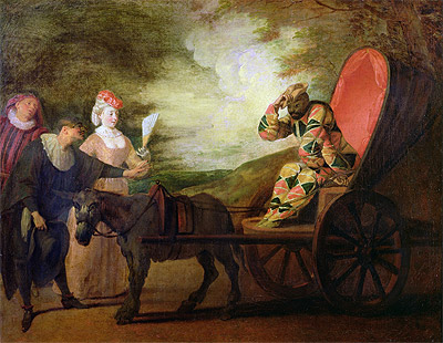 The Harlequin, Emperor of the Moon, c.1712 | Watteau | Painting Reproduction