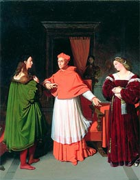 Ingres | The Betrothal of Raphael and the Niece of Cardinal Bibbiena | Giclée Canvas Print