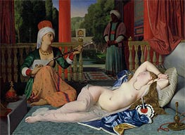 Ingres | Odalisque with Slave | Giclée Canvas Print