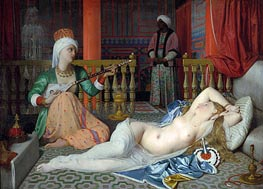 Ingres | Odalisque with a Slave | Giclée Canvas Print