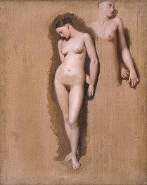 Ingres | Study for 'Roger Freeing Angelica' | Giclée Canvas Print