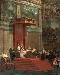 Ingres | Pope Pius VII Attending Chapel | Giclée Paper Print